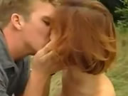 Redhead Girl Outdoor Love and Orgasm